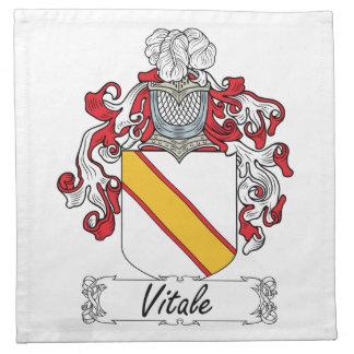Escudo de la familia de Vitale Servilleta De Papel