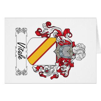 Escudo de la familia de Vitale Felicitación