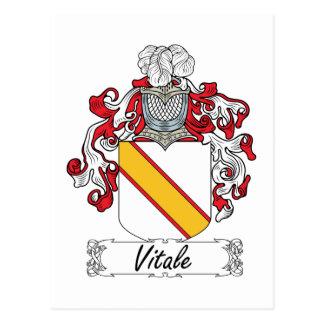 Escudo de la familia de Vitale Tarjeta Postal