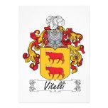Escudo de la familia de Vitelli Invitación Personalizada