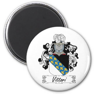 Escudo de la familia de Vittori Imán Redondo 5 Cm