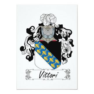 "Escudo de la familia de Vittori Invitación 5"" X 7"""