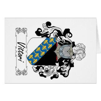 Escudo de la familia de Vittori Tarjeta De Felicitación