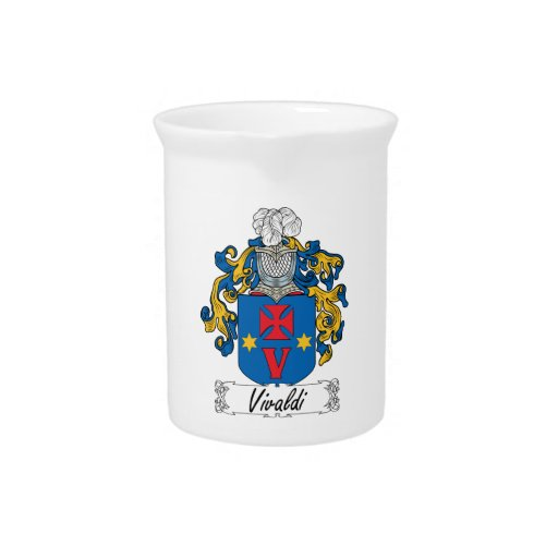 Escudo de la familia de Vivaldi Jarra Para Bebida