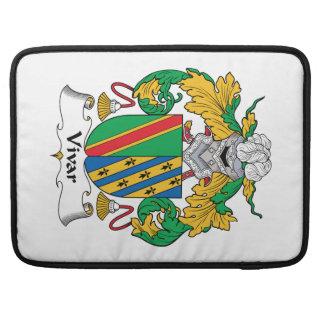 Escudo de la familia de Vivar Funda Para Macbooks