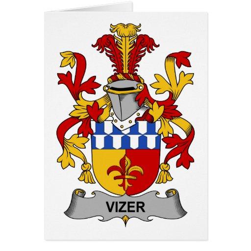 Escudo de la familia de Vizer Tarjetón