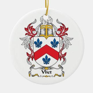 Escudo de la familia de Vliet Adorno Navideño Redondo De Cerámica