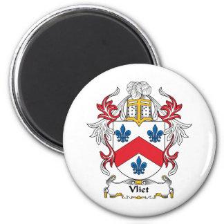 Escudo de la familia de Vliet Imán Redondo 5 Cm