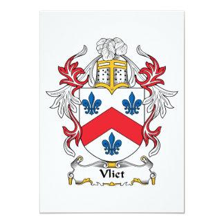 """Escudo de la familia de Vliet Invitación 5"""" X 7"""""""