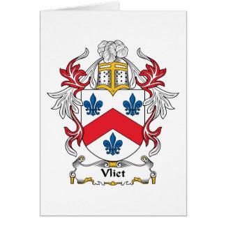 Escudo de la familia de Vliet Tarjeta De Felicitación