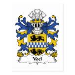 Escudo de la familia de Voel Tarjetas Postales