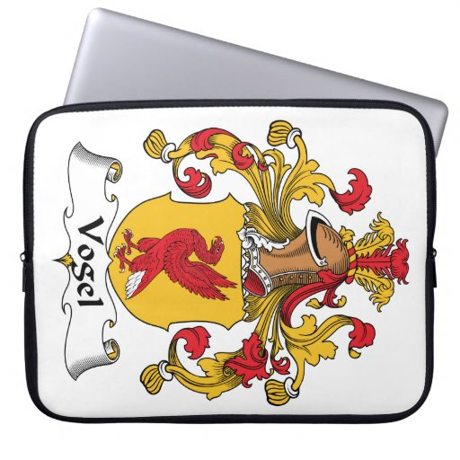 Escudo de la familia de Vogel Funda Ordendadores