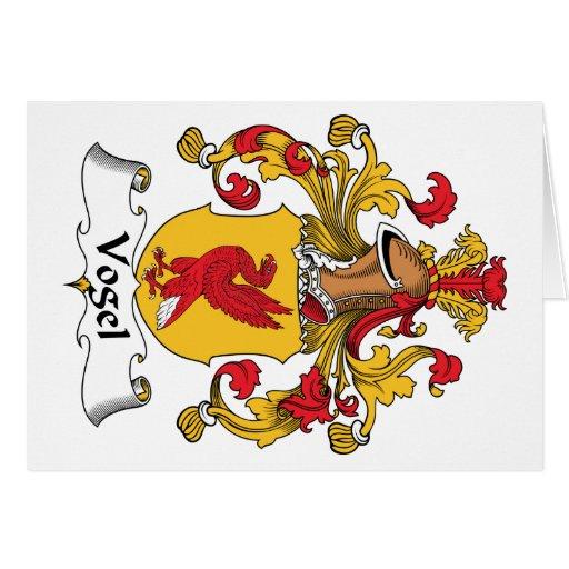 Escudo de la familia de Vogel Tarjeton