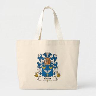 Escudo de la familia de Voisin Bolsas De Mano