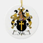 Escudo de la familia de Volz Ornaments Para Arbol De Navidad