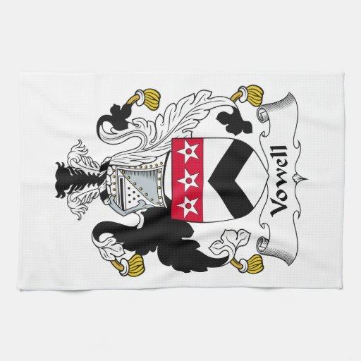 Escudo de la familia de Vowell Toalla De Mano