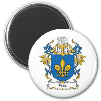 Escudo de la familia de Vree Imán Redondo 5 Cm