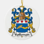 Escudo de la familia de Vuillemain Ornamento De Navidad