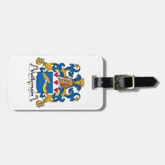 Escudo de la familia de Vuillemain Etiquetas De Maletas
