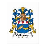 Escudo de la familia de Vuillemain Tarjetas Postales