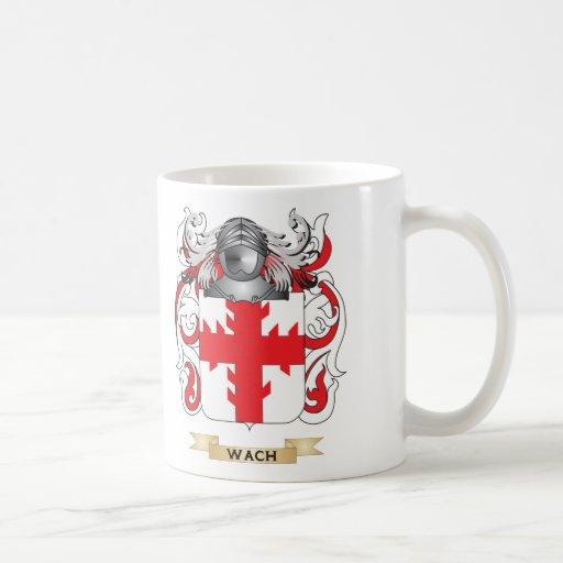 Escudo de la familia de Wach (escudo de armas) Taza De Café