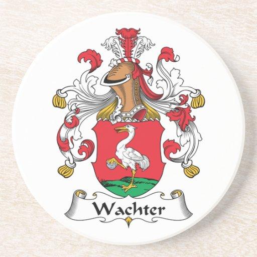 Escudo de la familia de Wachter Posavasos Manualidades