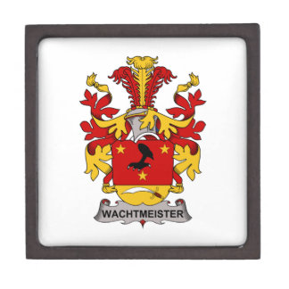 Escudo de la familia de Wachtmeister Caja De Joyas De Calidad