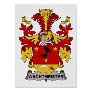 Escudo de la familia de Wachtmeister Poster