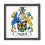 Escudo de la familia de Waddell Cajas De Recuerdo De Calidad