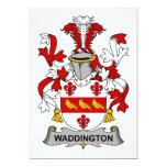 Escudo de la familia de Waddington Invitación 12,7 X 17,8 Cm
