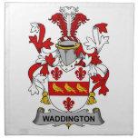 Escudo de la familia de Waddington Servilletas De Papel