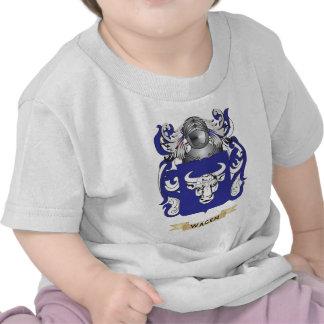 Escudo de la familia de Wagen (escudo de armas) Camisetas