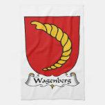 Escudo de la familia de Wagenberg Toalla De Cocina