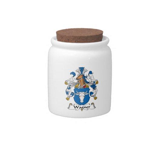 Escudo de la familia de Wagner Platos Para Caramelos