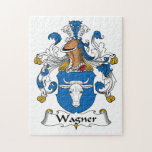 Escudo de la familia de Wagner Rompecabeza Con Fotos