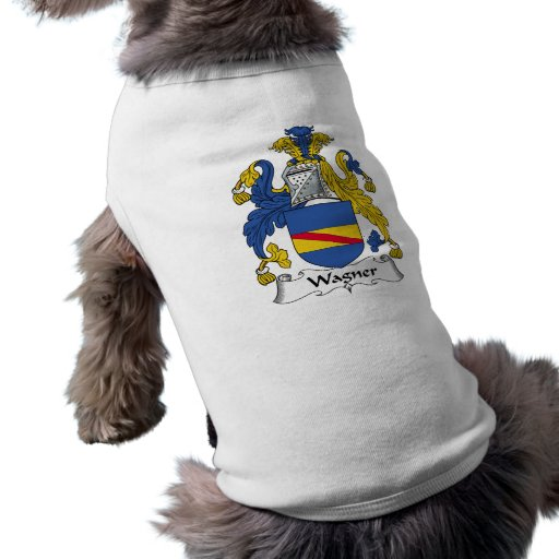 Escudo de la familia de Wagner Playera Sin Mangas Para Perro