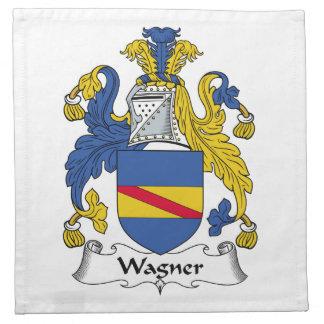 Escudo de la familia de Wagner Servilleta De Papel
