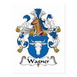 Escudo de la familia de Wagner Tarjeta Postal