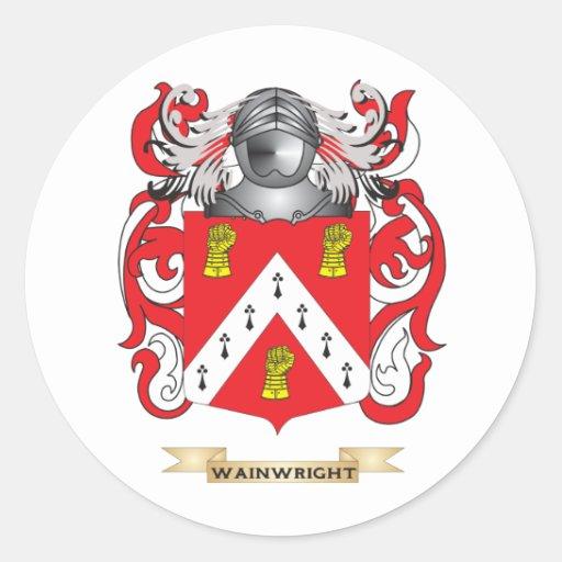 Escudo de la familia de Wainwright (escudo de arma Etiqueta Redonda