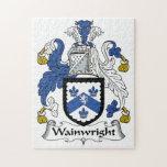 Escudo de la familia de Wainwright Puzzle Con Fotos