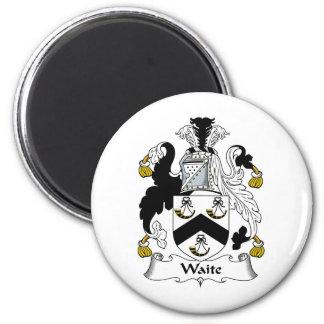 Escudo de la familia de Waite Imán Redondo 5 Cm