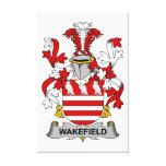 Escudo de la familia de Wakefield Impresión De Lienzo