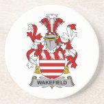 Escudo de la familia de Wakefield Posavasos Manualidades