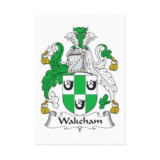 Escudo de la familia de Wakeham Lona Estirada Galerías