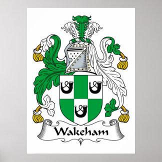 Escudo de la familia de Wakeham Posters