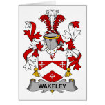 Escudo de la familia de Wakeley Felicitacion