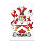 Escudo de la familia de Wakeley Lona Envuelta Para Galerias