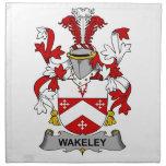 Escudo de la familia de Wakeley Servilleta De Papel