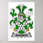 Escudo de la familia de Wakeman Impresiones