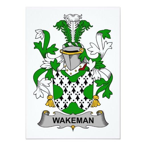 Escudo de la familia de Wakeman Invitación 12,7 X 17,8 Cm